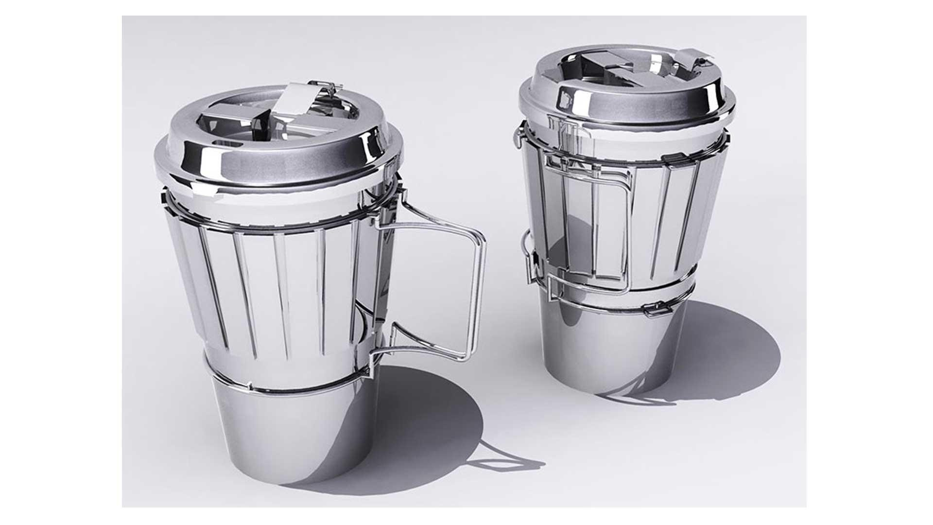 Aluminum Coffe Cup Concept