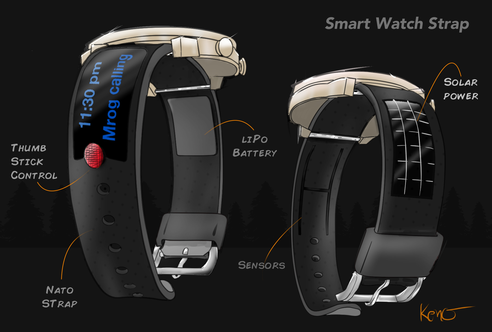 Product Concept Design Wearable smart strap